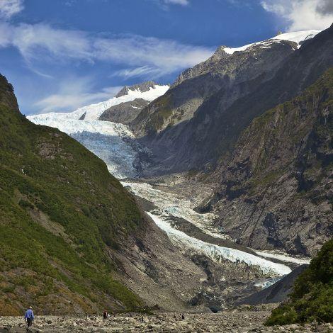 Lodowiec Franciszka Józefa (Franz Josef Glacier), Nowa Zelandia, w 2011 roku.