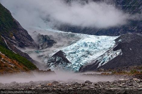 Lodowiec Franciszka Józefa (Franz Josef Glacier) w Alpach Południowych, Nowa Zelandia. Fot. Christopher Chan, z: Flickr. CC BY-NC-ND 2.0.