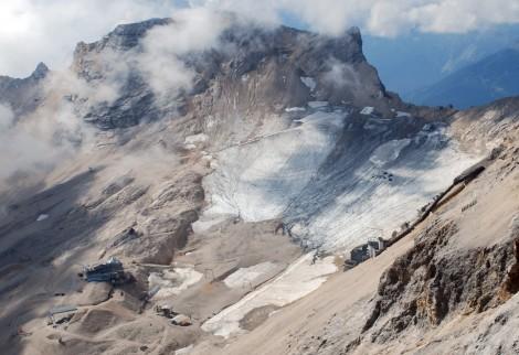 Lodowiec Schneeferner w rejonie Zugspitze, Alpy Bawarskie, Niemcy. Fot. Svíčková, CC-BY-SA 3.0