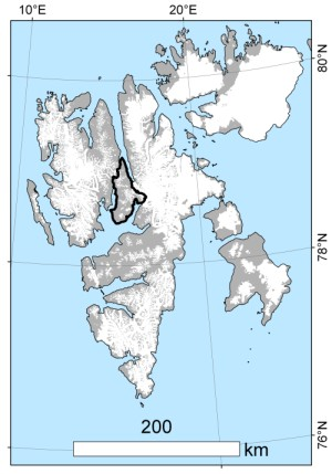 Svalbard_Dickson_Land_map