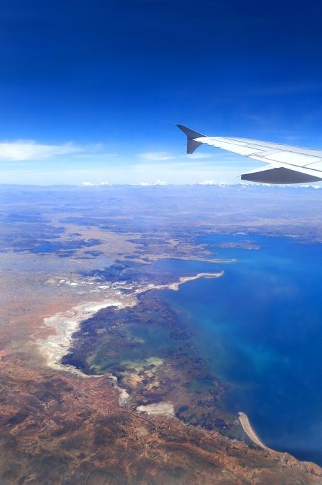 Jezioro Titicaca i peruwiańskie lodowce w tle. Fot. J. Małecki