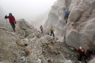 Czoło lodowca Zongo (Glaciar Zongo). Fot. J. Małecki