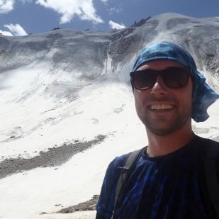 Selfie na tle Lodowca Młodzieży :) / Molodezhny Glacier selfie :)